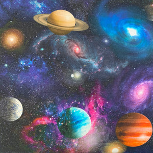 100% Cotton  - Planets - Sold by Half Metre