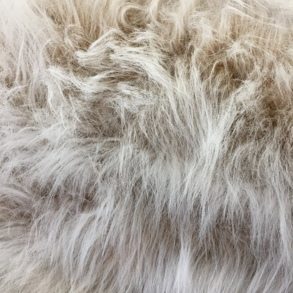 Long Pile Faux Fur - Beige Wolf