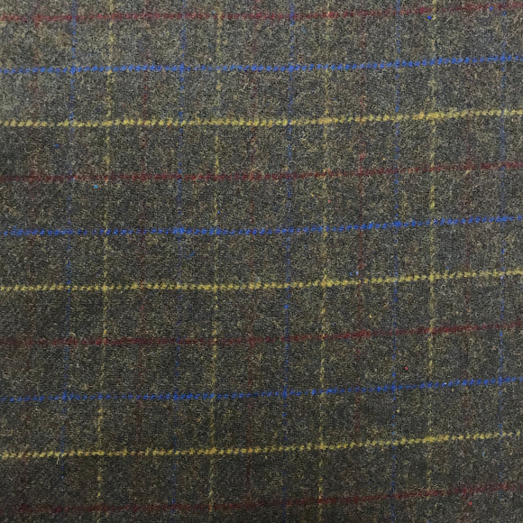Poly/Wool - Checks - Brown - Sold by Half Metre