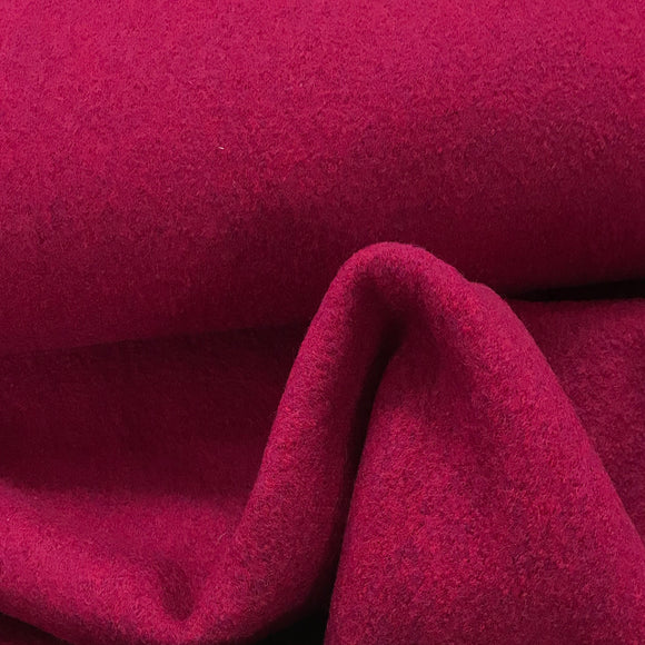 Boiled Wool - Magenta - Sold by Half Metre