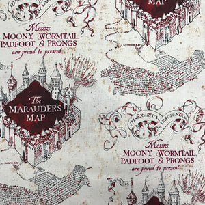 100% Cotton - Harry Potter - The Marauders Map - Sold By Half Metre