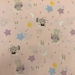 100% Cotton  - Swimming Animals Designed for you by Poppy - Pink - Sold by Half Metre