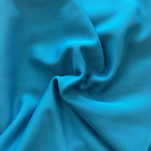 Remnant 30810 1.1m Rubbed Polyester Turquoise 150cm Wide