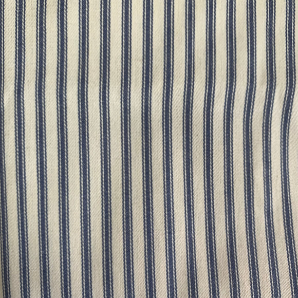 Remnant 30803 1.15m Woven Cotton Ticking FR Treated   215m Wide