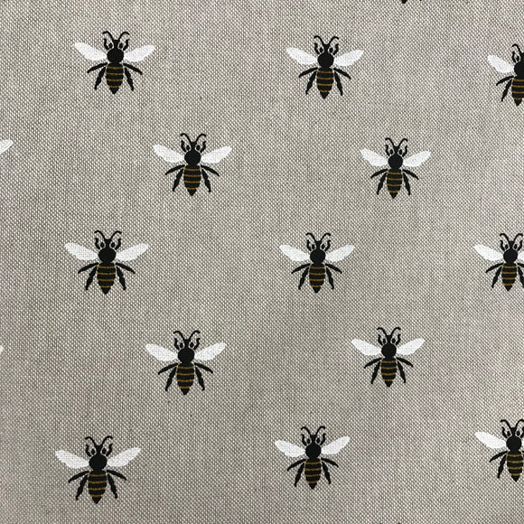 Linen look - Wasps - Sold By Half Metre