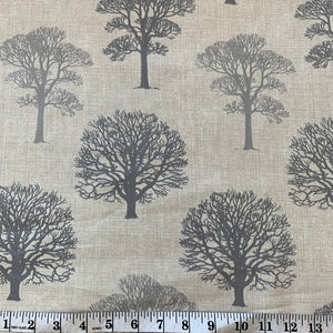 Linen Look - Large Trees - Sold By Half Metre