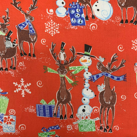 100% Cotton - Christmas Friends - Sold by Half Metre