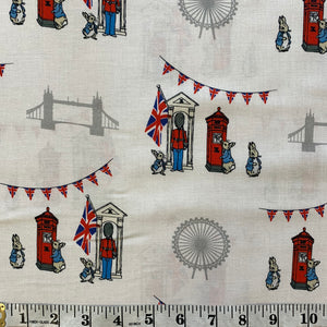 100% Cotton - Peter Rabbit's Sightseeing London - Sold By Half Metre
