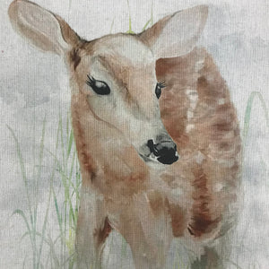 CLEARANCE - Linen look Panels - Deer