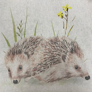 CLEARANCE - Linen look Panels - Hedgehog