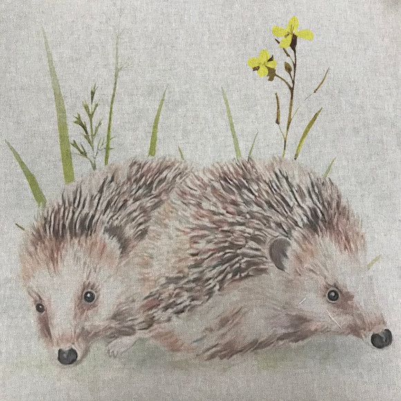 Linen look Panels - Hedgehog