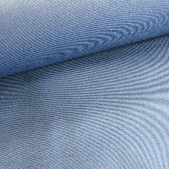Polyester Wool Mix - Blue - Sold by Half Metre