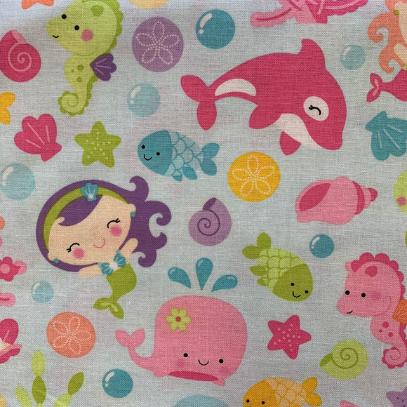 100% Cotton  - Under The Sea - Sold by Half Metre