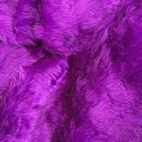 Short Pile Faux Fur - Purple