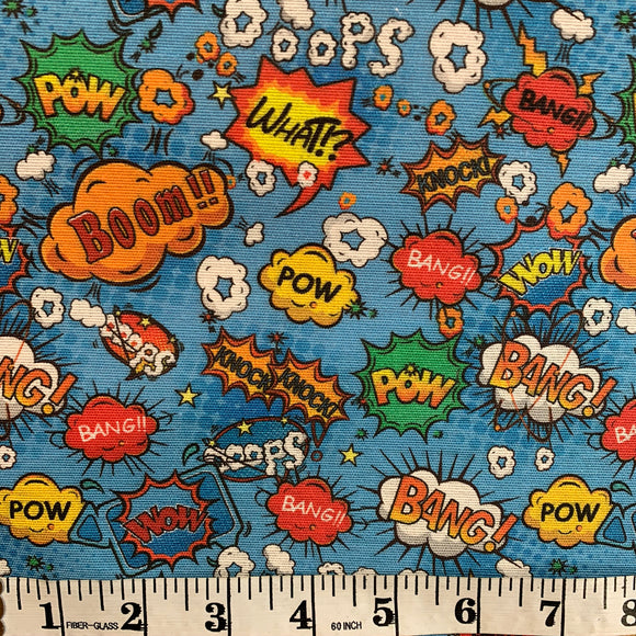 Linen Look - Boom Pow Wow - Sold by Half Metre