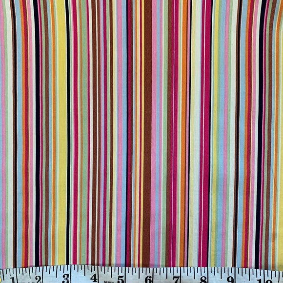 100% Cotton Fat Quarter - Rainbow Stripe