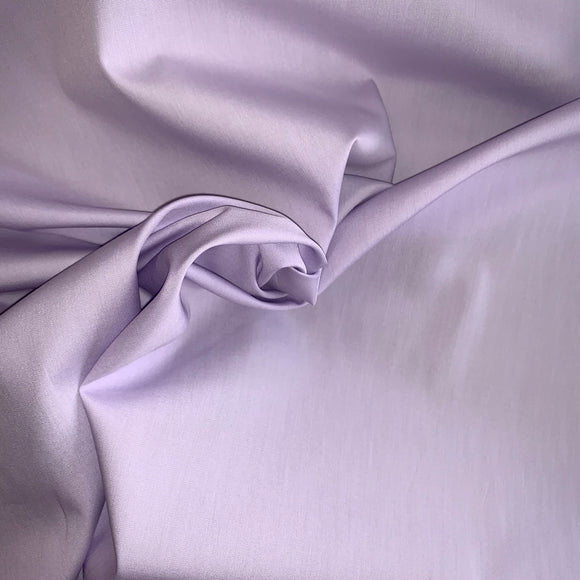 100% Cotton Poplin Plain - Lilac - Sold by Half Metre