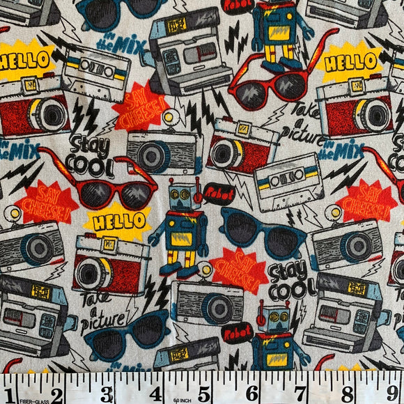 Cotton Jersey - Stay Cool - Grey - Sold By Half Metre