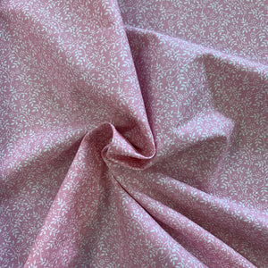 100% Cotton  - Tangled Leaves - Pink - Sold by Half Metre