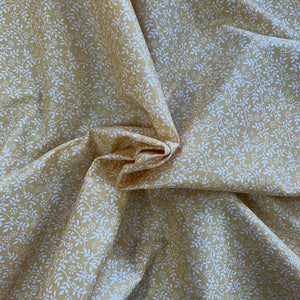 100% Cotton  - Tangled Leaves - Gold - Sold by Half Metre