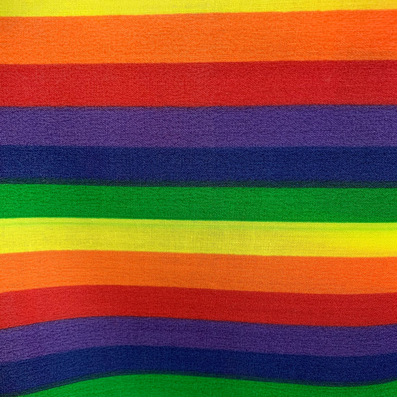 Polycotton - Vibrant Stripe - Sold by Half Metre