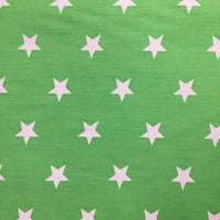 100% Cotton Poplin - Stars - Green