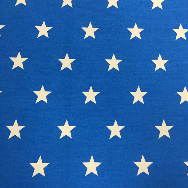 100% Cotton Poplin - Stars - Blue