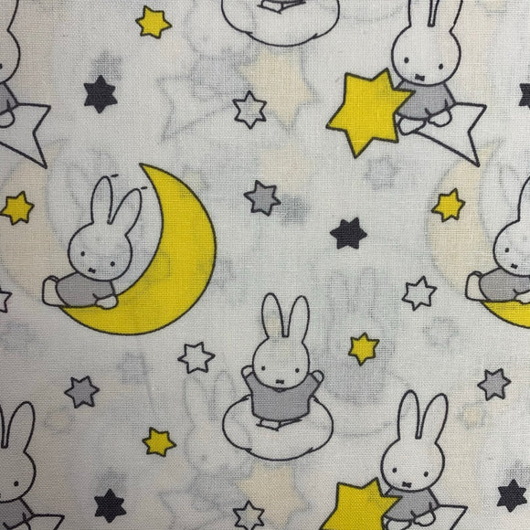 SALE - 100% Cotton - Miffy - Shooting Star  - Sold by Half Metre