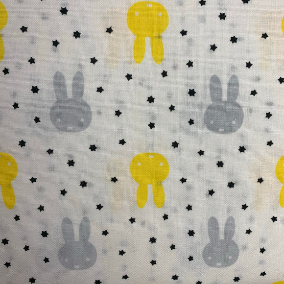 HALF PRICE OFFER - 100% Cotton - Miffy Outline - Sold by Half Metre