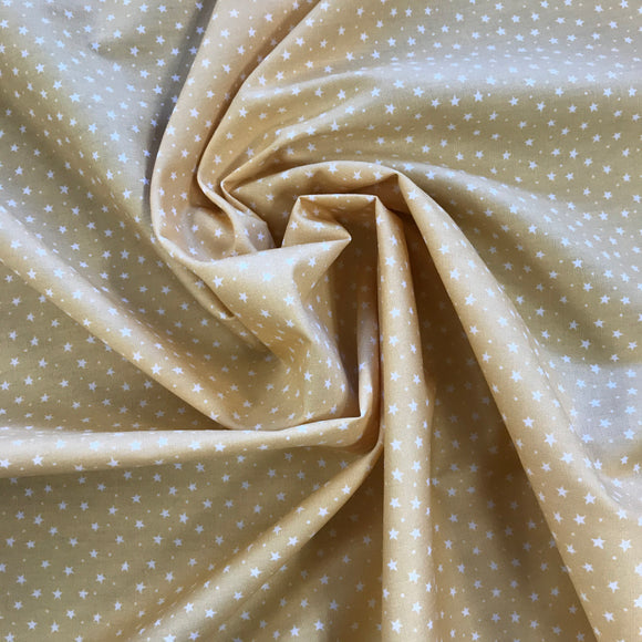 100% Cotton  - Ditsy Star - Gold - Sold by Half Metre