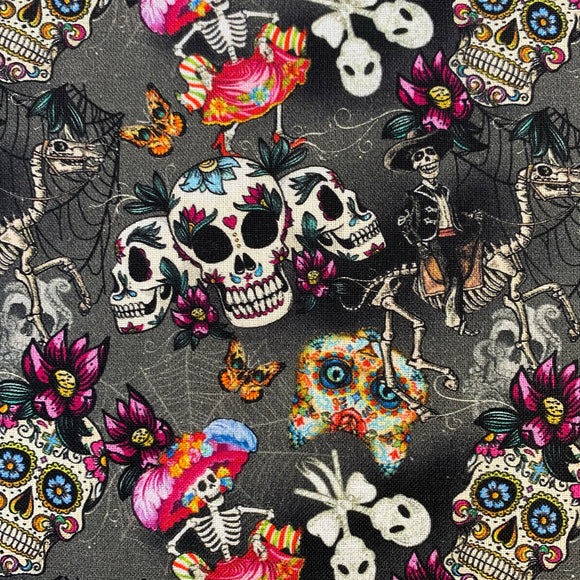 100% Cotton  - Day of The Dead - Sold by Half Metre