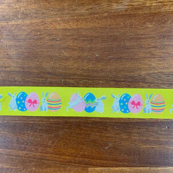 Easter Ribbon - Easter Egg and Bunnies 25mm