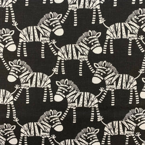 100% Craft Cotton  - Monochrome Zebra - Sold by Half Metre