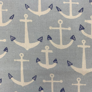 SALE 100% Cotton  - Anna Bella Hello Summer Anchors - Sold by Half Metre
