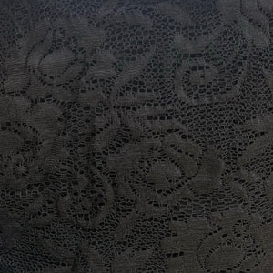 Stretch Black Lace - Sold by Half Metre