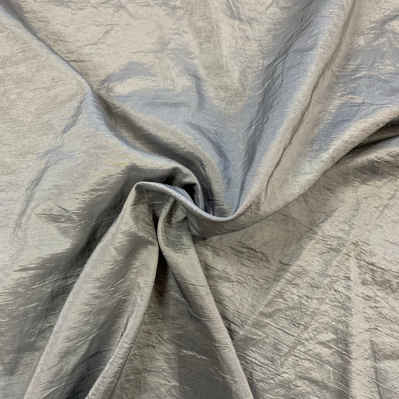 Crushed Taffeta - Silver Grey - Sold by Half Metre
