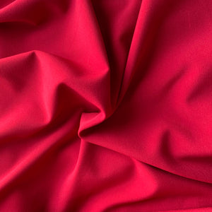 Poly Viscose Spandex - Red - Sold by Half Metre