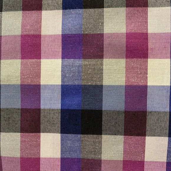 Royal and Purple Lightweight Polycotton Check - Sold by Half Metre