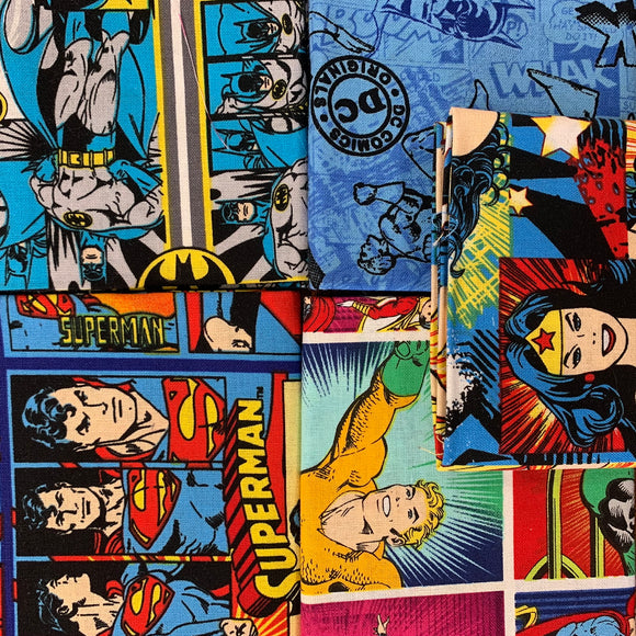 100% Cotton Fat Quarters - DC Comics