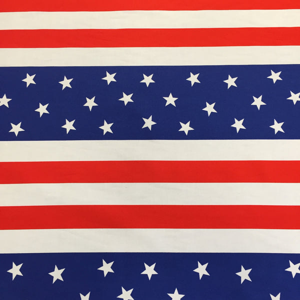 100% Cotton Poplin - Stars and Stripes