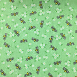 Polycotton Print Children's - Little Bee - Green