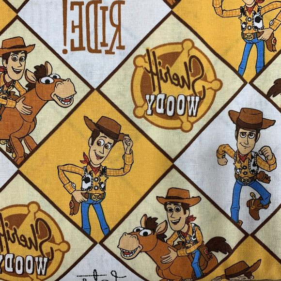 100% Cotton - Toy Story -  Woody - Sold by Half Metre
