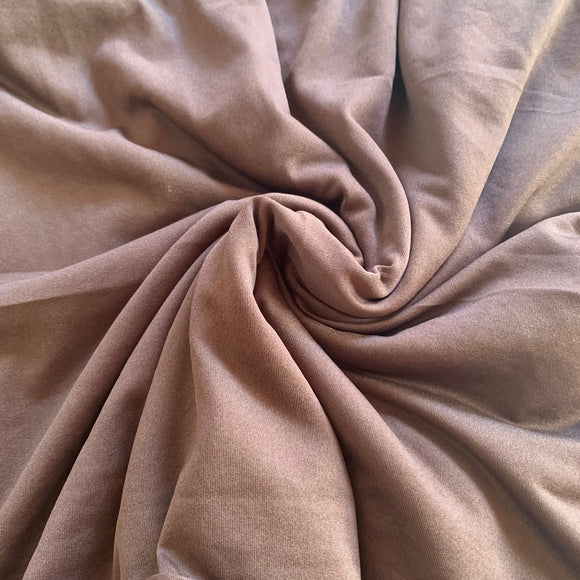 Remnant 2379 - 1.9 Brown Stretch Lining (approx 150cm Wide)