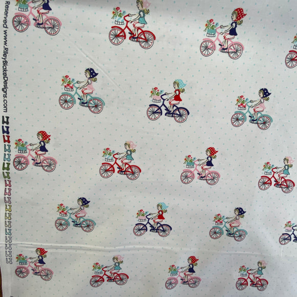 100% Cotton - Riley Blake Ladies Cycles - Sold by Half Metre
