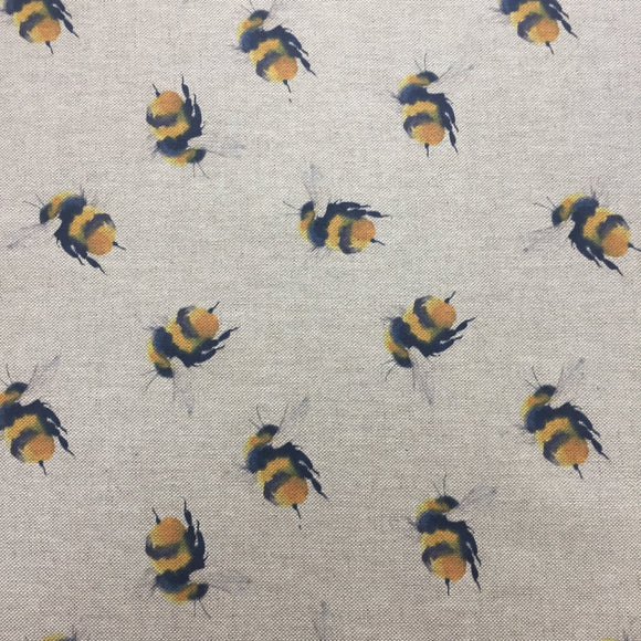 Linen look Bees - Sold By Half Metre