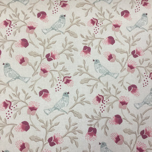 Birdsong - Rose - Sold by Half Metre