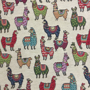 Tapestry - Llama - Mini - Sold by Half Metre