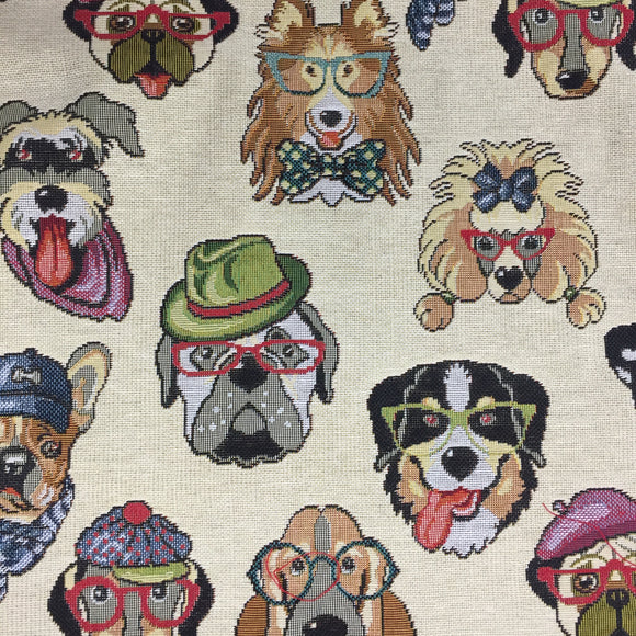 Tapestry - Dogs - Sold by Half Metre