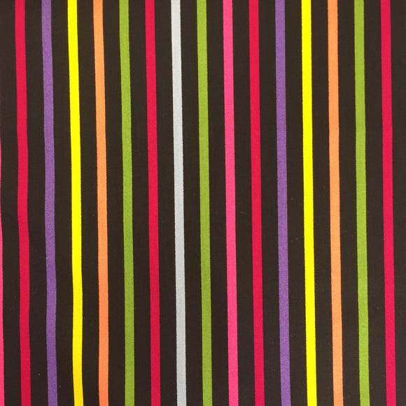 100% Cotton Poplin - Disco Stripes - Sold by Half Metre