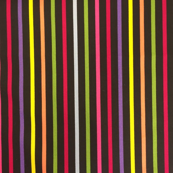 100% Cotton Fat Quarter - Disco Stripes